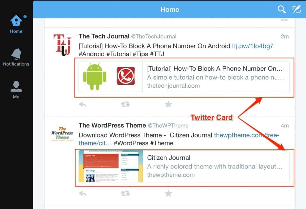 New Twitter Card in Smartdevice & App