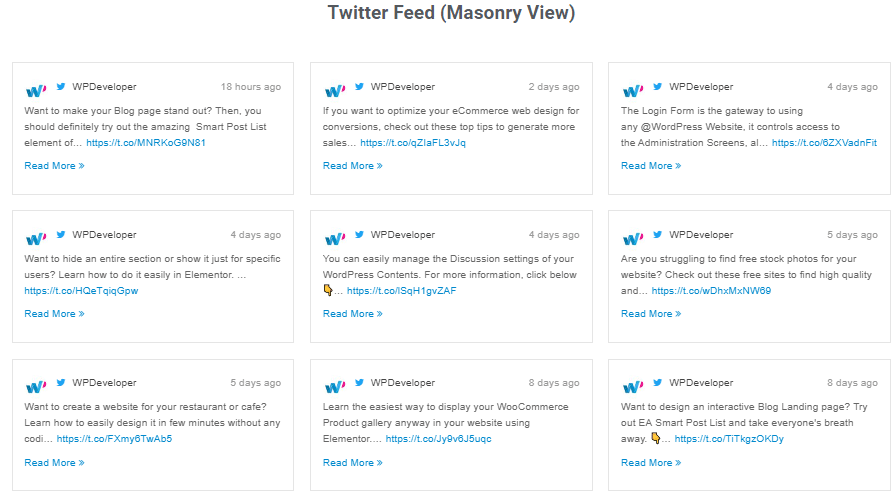 How To Display Twitter Feed Using Elementor To Improve Engagement Rates 10