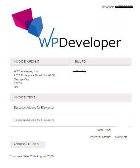 Print Invoice, WordPress, Plugins and Themes, WPDeveloper