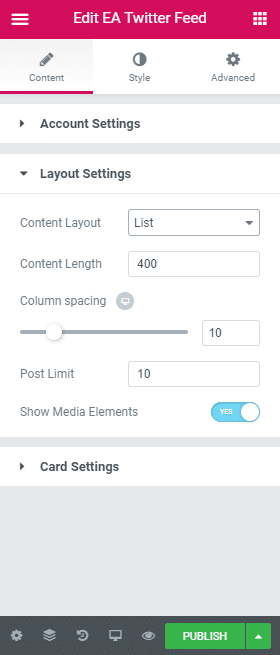 How To Display Twitter Feed Using Elementor To Improve Engagement Rates 6