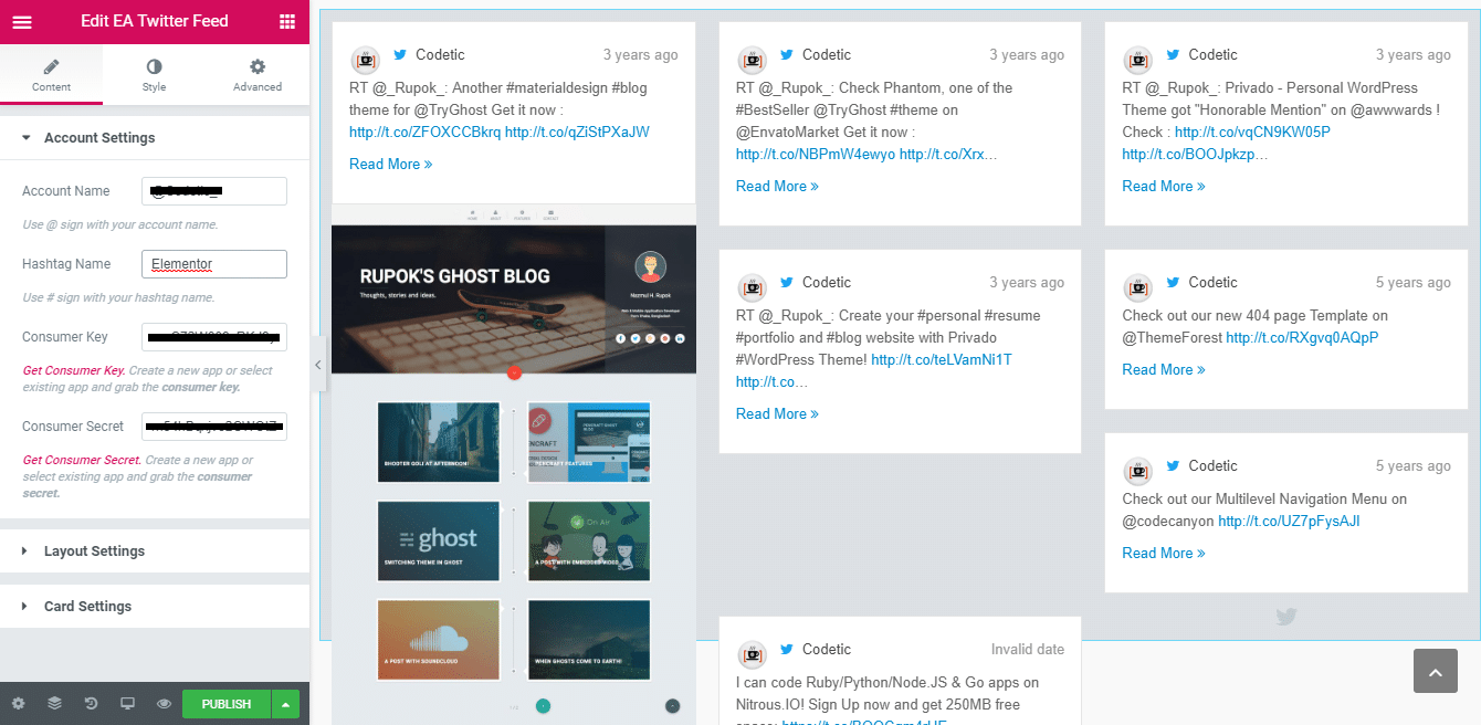 How To Display Twitter Feed Using Elementor To Improve Engagement Rates 5