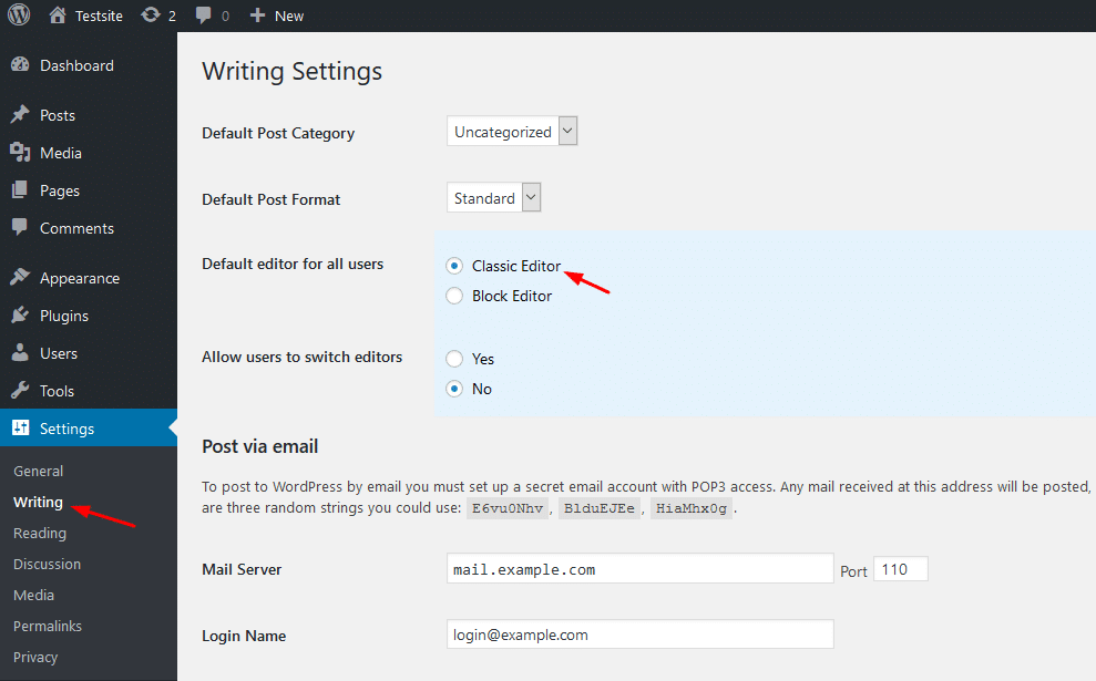 How To Keep Using The Classic WordPress Editor & Disable Gutenberg 4