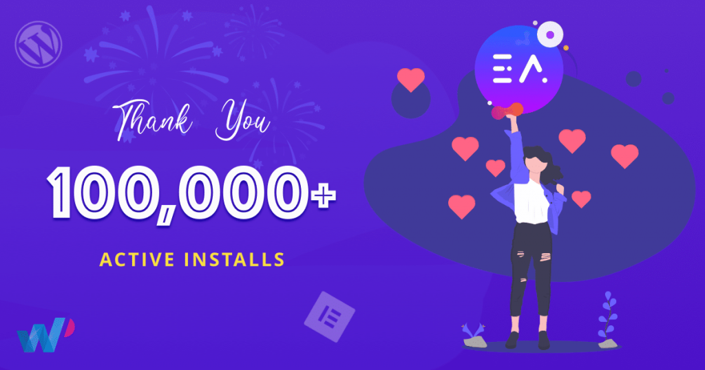 Essential Addons For Elementor Reached 100,000 Happy Users 1