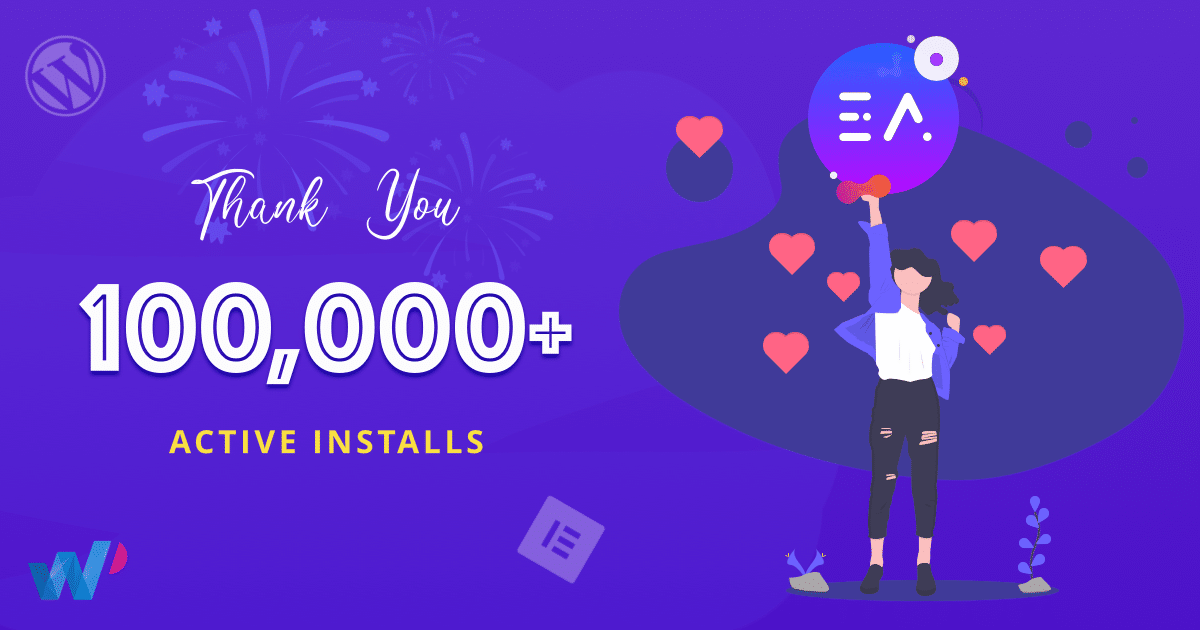 Essential Addons For Elementor Reached 100,000 Happy Users 4
