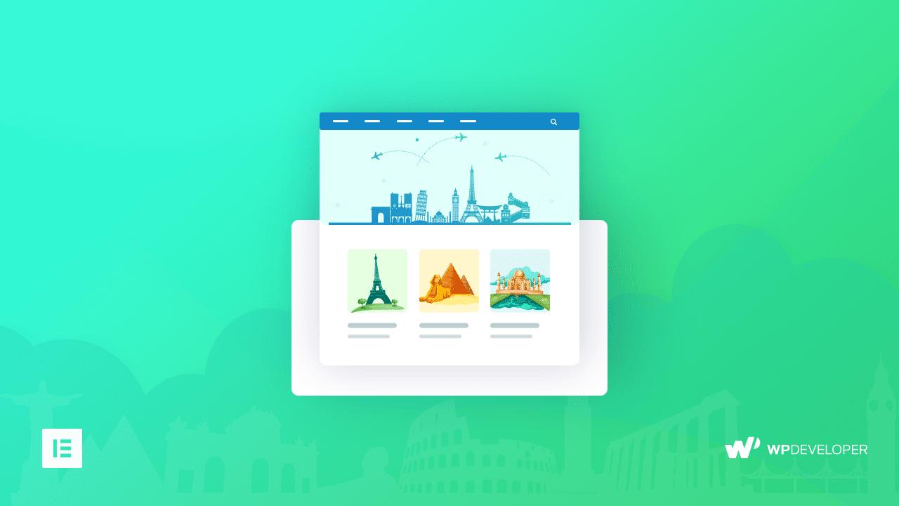 travel landing page Elementor