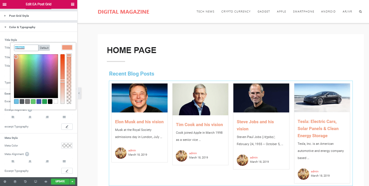 How To Easily Create Stunning Magazine Homepage With Elementor 12