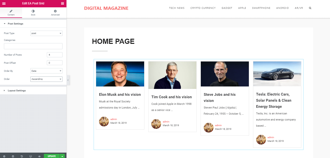 How To Easily Create Stunning Magazine Homepage With Elementor 8