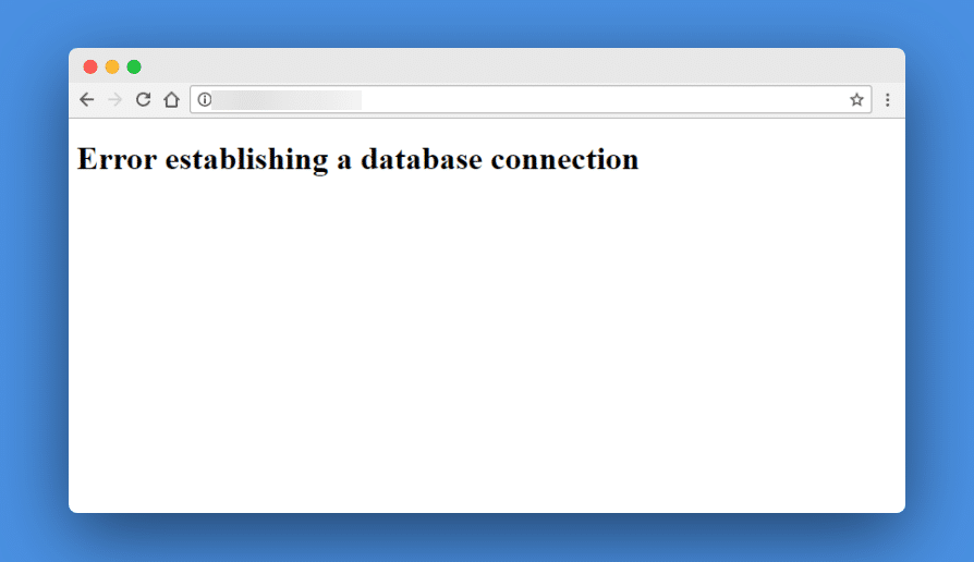 database connection error