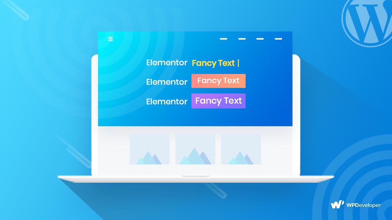 fancy text elementor