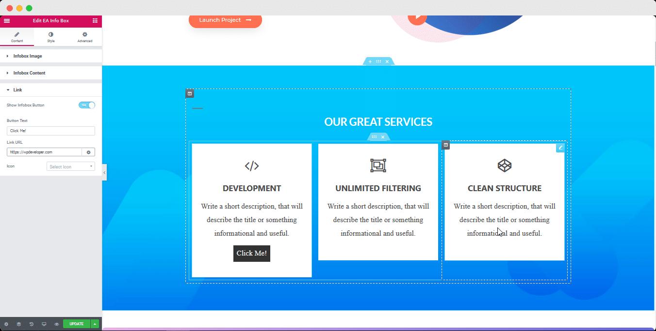 info box elementor