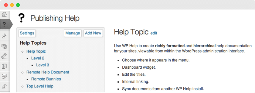 documentation plugin WordPress