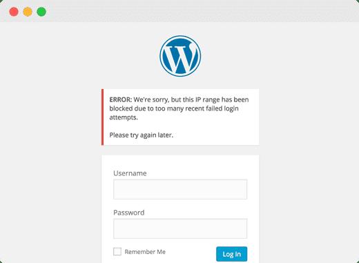locked out error WordPress