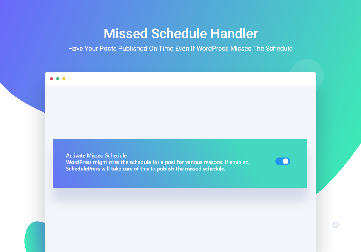 missed schedule error
