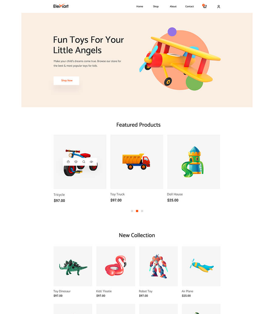 EleMart: Best Multipurpose Templates For Elementor To Build Any Website Without Coding 11