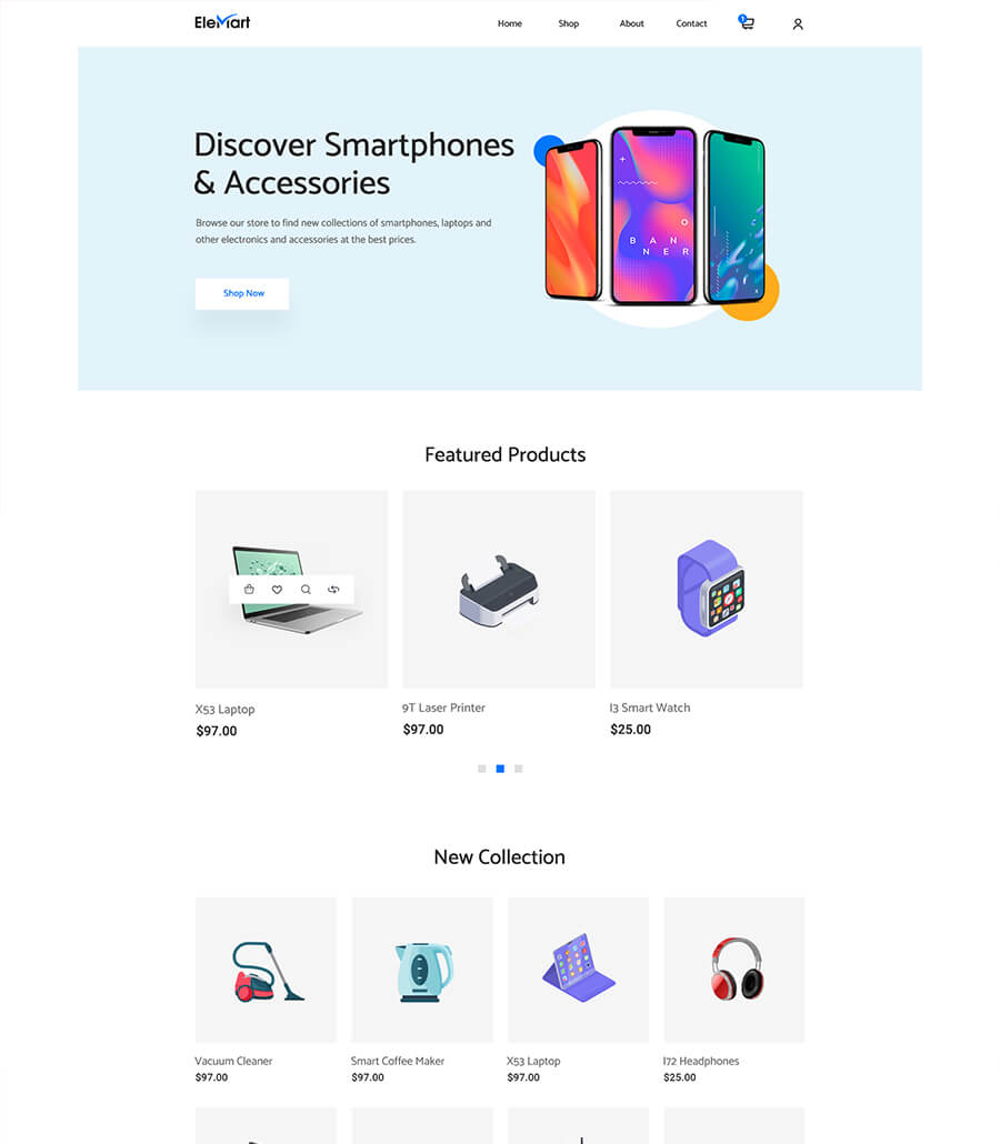 EleMart: Best Multipurpose Templates For Elementor To Build Any Website Without Coding 3